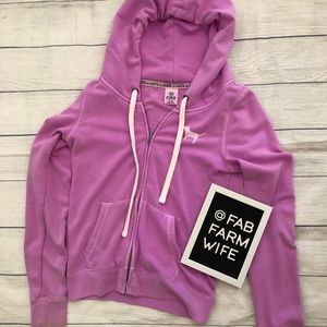 Pink by Victoria's Secret purple hoodie. Medium.